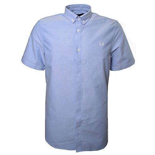 Fred Perry Men's Light Smoke Classic Oxford Short Sleeved Shirt XXL (Fred Perry Dress Shirt)