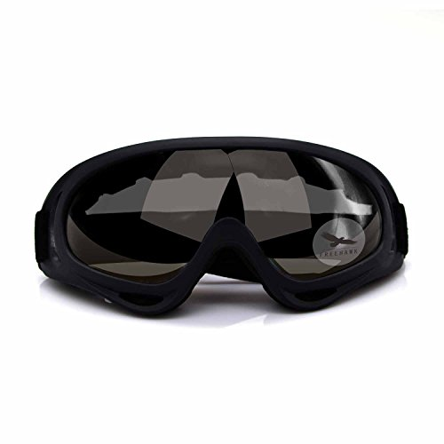 Freehawk Adjustable UV Protective Outdoor Glasses Motorcycle Goggles Dust-proof Protective Combat Goggles Military Sunglasses Outdoor Tactical Goggles to Prevent Particulates in Dark Brown