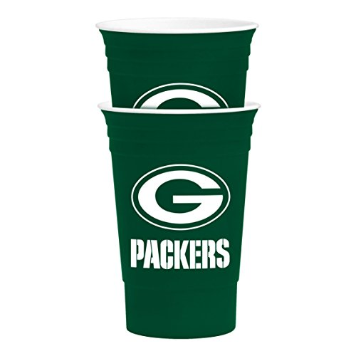 NFL Green Bay Packers Party Cup Tailgate Set, 16-ounce, Green -