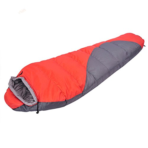 Hood amp; Sleeping grey Hiking Backpacking mummy Indoor Outdoor Sleeping Bag With red Adult Bag Winter with Sleeping Camping Season Bag KEREITH Travel bag Compression Bag Envelope for sleeping 3 CzYWPqf