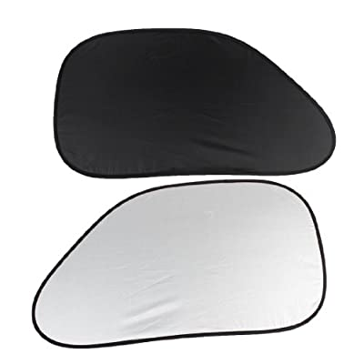 uxcell 2pcs Black Polyester Car Auto Side Window Sunshade