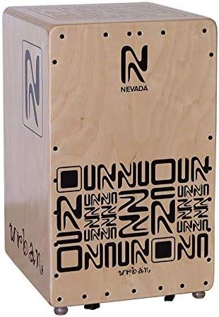 Cajón flamenco profesional NEVADA-URBAN, natural, diseño elegante y moderno, relieves fresados, fabricación 100% española: Amazon.es: Instrumentos musicales