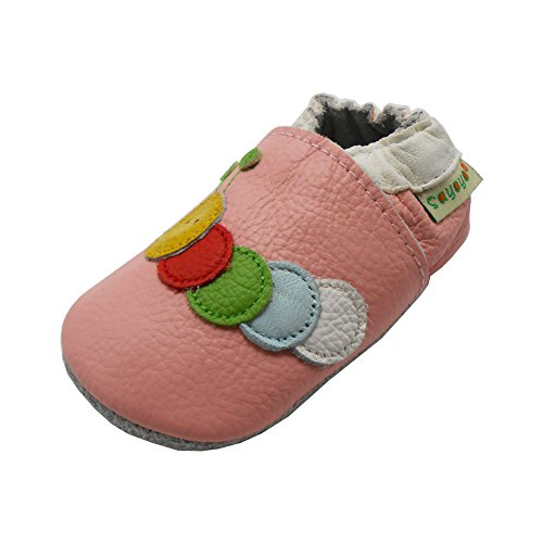 Sayoyo Baby Caterpillars Soft Sole Pink Leather Infant And Toddler Shoes 18-24Months