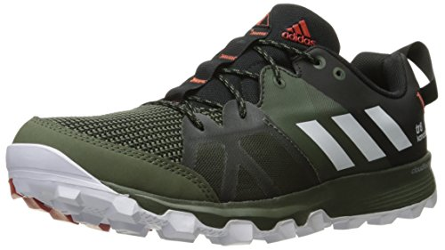 adidas Outdoor Men's Kanadia 8 Trail Running Shoe Base Green/White/Black 10.5 M US