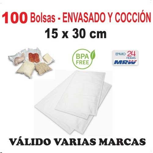 100 Bolsas para cocción y envasado vacío de 15x30 cm. Para ...