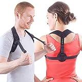 Posture Corrector for Women Men - Front Adjusting Back and Shoulder Brace - Upright Trainer Support for Under Clothes - FDA Approved (Chest Size 28'' - 40'')