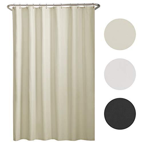 MAYTEX Mills Water Repellent Fabric Shower Curtain Liner, 70 x 72, Bone