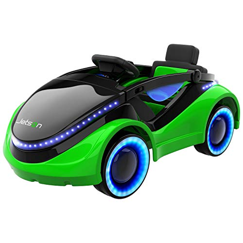 (Jetson Moby Electric Racer with LED Light-Up Hood and Wheels, Foot Pedal and Remote Control Operation, Electric Ride-On for Kids, 18 Months and)