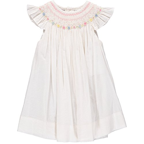 Carriage Boutique Baby Girl White Bishop Dress ()