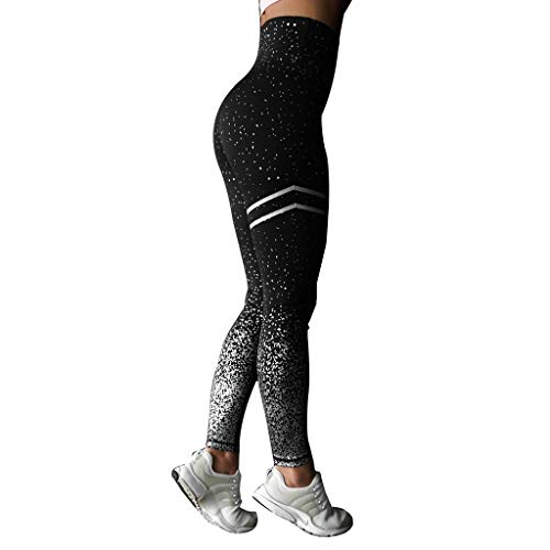 Womens Yoga Pants,Leggings for Women Dots Leggings Fitness Sports Running Yoga Athletic Pants(XL,Black)