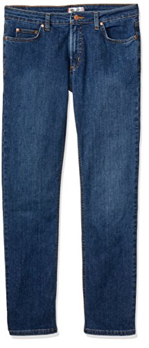 Dickies Premium Denim - Dickies Women's Perfect Shape Denim Jean-Straight Stretch, Stonewashed Indigo Blue, 14RG