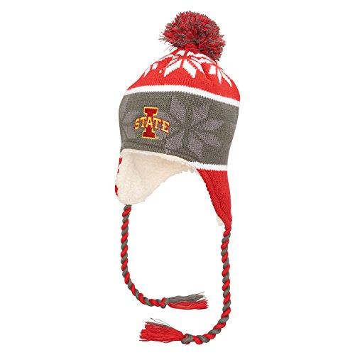 Ouray Sportswear NCAA Iowa State Cyclones Ridge Beanie, One Size, Scarlet