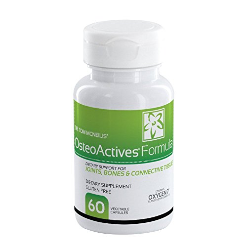 Bottle 60 Formula Count Capsules (OsteoActives Formula by Oxygen Nutrition | All-natural dietary support for joints, bones and connective tissue - 60 Count Pill Bottle- Vegetable Capsules)