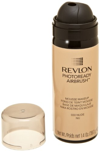 REVLON Photoready Airbrush Mousse Makeup, Nude, 1.4 Ounce
