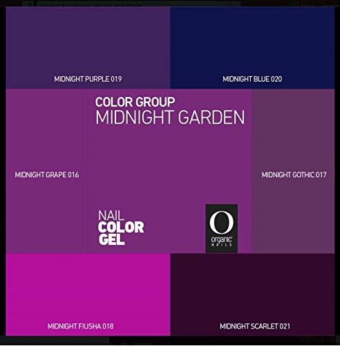 Organic Nails Gel Color Group Midnight Garden (Midnight Purple) ()