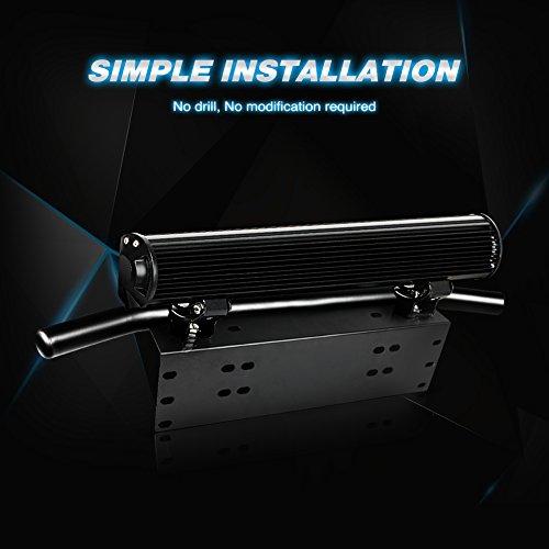 Nilight-License-Plate-Mount-Bracket-Holder-Bull-Bar-Style-Front-Bumper-Number-Plate-Frame-Light-Bar-Mounting-Bracket-for-Off-Road-Lights-LED-Work-Lights-Driving-Lights-Jeep-Lamps