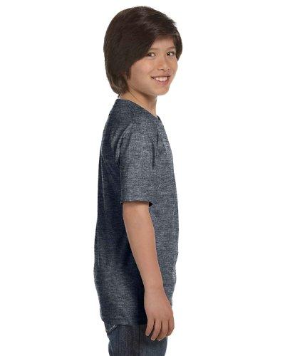 Gildan Dryblend Youth T-Shirt, Dark Hthr, X-Small