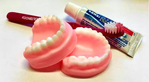 Denture Soap Set - False Teeth, Gag Gift, Tooth Soap, Prank Soap, You Choose Scent, Soap Dentures, Funny Soap, Over The Hill, Silly - FREE SHIPPING