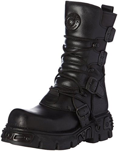 New Rock Unisex-Erwachsene M 373 S18 Stiefel & Stiefeletten Schwarz - Schwarz (Black)