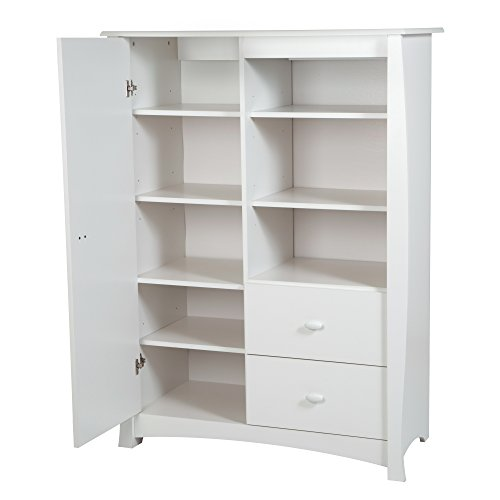 Kids Armoires (South Shore Beehive Armoire with Drawers, Pure White)