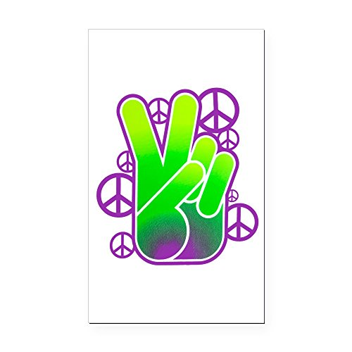 Symbol Rectangle Magnet - Rectangle Car Magnet Large Peace Symbol Sign Neon Hand