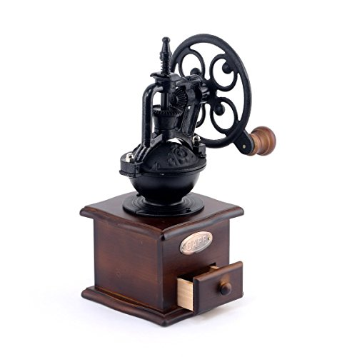 Coffee Grinder Foruchoice Vintage Style Coffee Grinder Spice Hand Grinding Machine Hand-crank Roller Drive Grain Burr Mill Coffee Machine by DeFancy