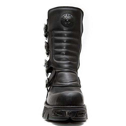 New Rock Leder Stiefel Zwarte