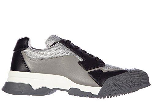 Prada chaussures baskets sneakers homme en cuir nevada bike gris