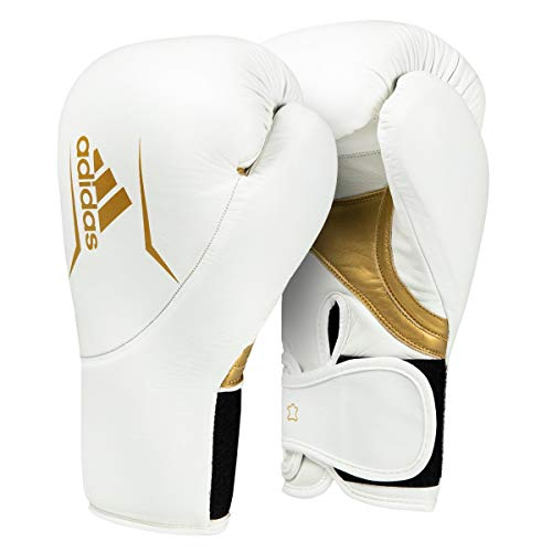 adidas Speed 300.2 Training Gloves, White/Gold, 14 oz (Adidas Boxing)