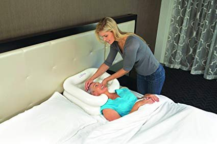 Pevor Deluxe Inflatable Bed Shampooer Basin, White