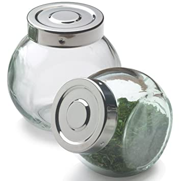 Amazoncom Glass Ball Spice Bottle with Stainless Steel Lid 6 oz