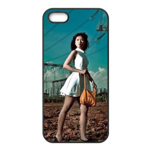 Girl Asian Power Lines coque iPhone 4 4S cellulaire cas coque de téléphone cas téléphone cellulaire noir couvercle EEEXLKNBC25274