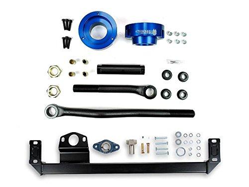 Adjustable Track Bar, Steering Box Support, and Leveling Kit Sinister Diesel Blue for Dodge Cummins 2010-2012 4WD