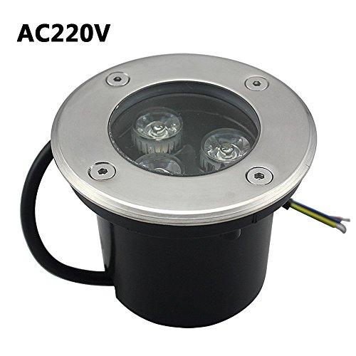 3W Bodeneinbaustrahler Led 230V AC IP68 270Lumen Für Aussen (warmweiß)