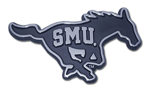 Elektroplate Southern Methodist University (SMU Embossed on Mustang) Emblem