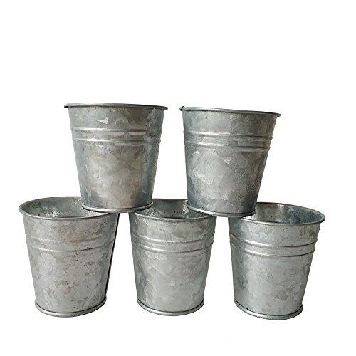 10PCS/Lot D7XH7CM Small Nursery Pots Round Mini Succulent Planter Metal Flower Plnter Pot For Garden