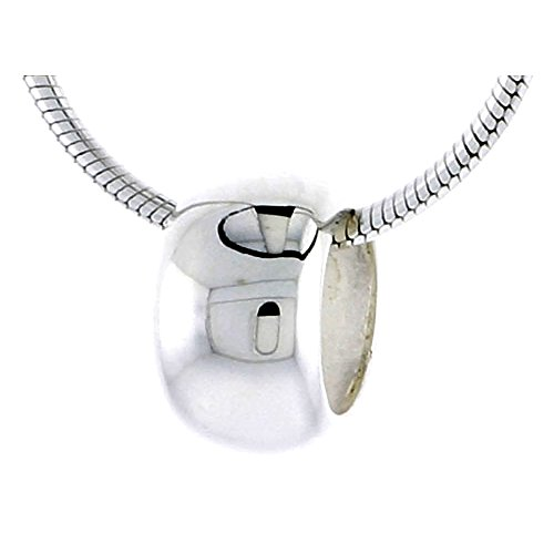 Polished Sterling Silver Barrel Pendant