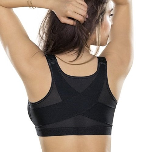 Leonisa Women's Posture Corrector Wireless Back Support Bra