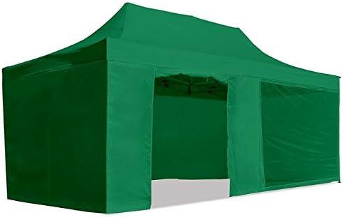 CARPLE - Carpa plegable 3x6m Impermeable Exterior, Carpa de plegado Fácil color Verde para Eventos, Jardín, Fiestas al Aire Libre
