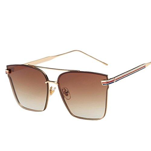Ikevan 2017 Newest Woman Men Fashion Square Metal Frame Mirror Sunglasses Sunglasses...