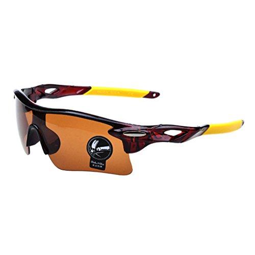 Pesca anteojos de la de bici la de ciclo Marr¨®n los Conducci¨®n de Transparente vidrios motocicleta los sol Highdas de deportes de gafas Marr¨®n xqwFvTHx