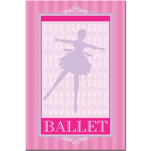 Trademark Fine Art Ballet in Pink I by Grace Riley Canvas Wall Art, 22x32-Inch