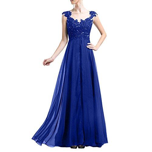 Ballkleider Charmant Brautmutterkleider Damen Hochzeits Anmutig fuer Blau Chiffon Schwarz Spitze Abendkleider Royal npw1Yxqpr0