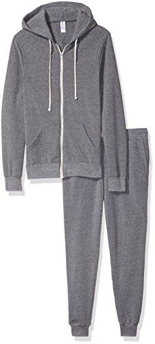 - Alternative Men's Warm up Suit, Eco Grey, L