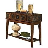 Ashley Furniture Signature Design - McKenna Sofa Table - Rectangular - Dark Brown