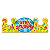 Wholesale CASE of 15 - Carson Star Student Crowns-Star Student Crown, 23-1/2''x4'', Multi Color