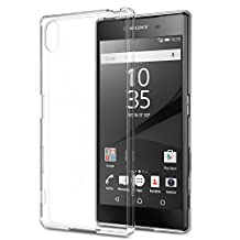 Sony Xperia Z5 Case, MoKo Shock Absorbing TPU Bumper Ultra Slim Clear Protective Case with Anti-Scratch Hard Back Cover for Sony Xperia Z5 5.2 Inch (2015) - Crystal Clear