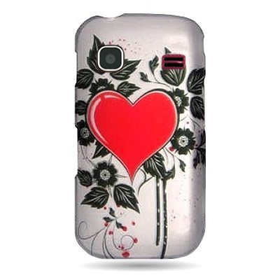 - WIRELESS CENTRAL Brand Hard Snap-on Shield With SACRED HEART Design Faceplate Cover Sleeve Case for SAMSUNG REPP R680 (US CELLULAR) with TRI Removal Tool Case [WCB1029]