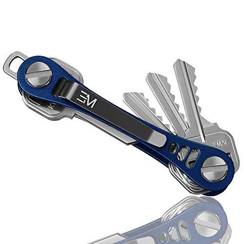 organizador de llaves aluminio Em Key azul