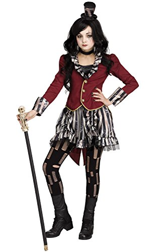 Fun World Big Girl's Freakshow Ringmistress Costume Childrens Costume, Multi, -